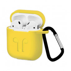 Чехол Silicone Case for Apple AirPods with Carbine Yellow