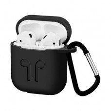 Чехол Silicone Case for Apple AirPods with Carbine Black