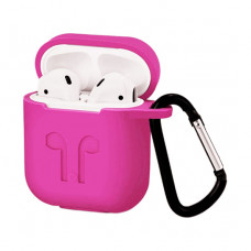 Чехол Silicone Case for Apple AirPods with Carbine Pink