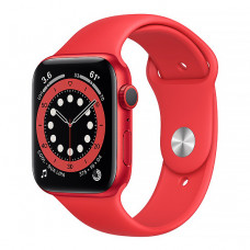 Смарт-часы Apple Watch Series 6 44mm (PRODUCT)RED Aluminum Case with Red Sport Band(M00M3)