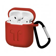 Чехол Silicone Case for Apple AirPods with Carbine Red