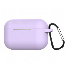 Чехол Silicone Case for Apple AirPods Pro with Carbine Light Purple