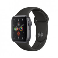 Apple Watch Series 5 40mm Space Gray Aluminum Case with Black Sport Band(MWV82/MWWQ2) OpenBox
