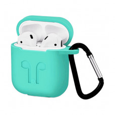 Чехол Silicone Case for Apple AirPods with Carbine Mint
