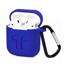 Чехол Silicone Case for Apple AirPods with Carbine Dark Blue