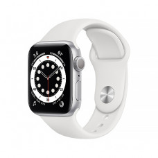 Смарт-часы Apple Watch Series 6 40mm Silver Aluminum Case with White Sport Band(MG283)