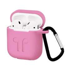 Чехол Silicone Case for Apple AirPods with Carbine Light Pink