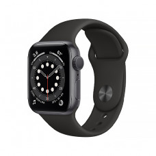 Смарт-часы Apple Watch Series 6 40mm Space Gray Aluminum Case with Black Sport Band(MG133)