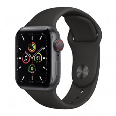 Смарт-часы Apple Watch SE + LTE 44mm Space Gray Aluminum Case with Black Sport Band(MYER2/MYF02)