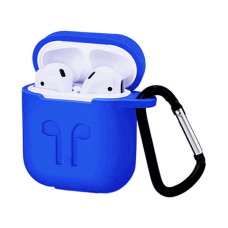 Чехол Silicone Case for Apple AirPods with Carbine Blue