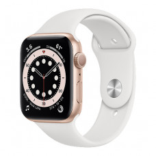 Смарт-часы Apple Watch Series 6 44mm Gold Aluminum Case with White Sport Band(M02E3)