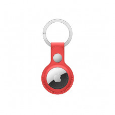 Брелок с кольцом Apple Leather Key Ring (PRODUCT) RED for AirTag(MK103)