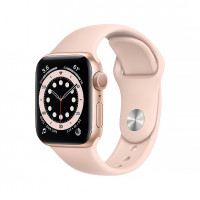 (OpenBox) Apple Watch Series 6 40mm Gold Aluminum Case with Pink Sand Sport Band (MG123)