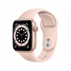 Смарт-часы Apple Watch Series 6 40mm Gold Aluminum Case with Pink Sand Sport Band(MG123)