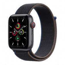 Смарт-часы Apple Watch SE + LTE 44mm Space Gray Aluminum Case with Charcoal Sport Loop(MYEU2/MYF12)